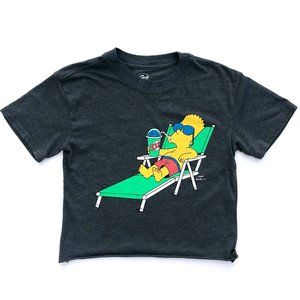 THE SIMPSON Women's Bart Graphic Crop T-Shirt XS